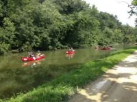 Canoes on the C&O Canal