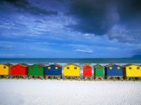Island huts by the seashore