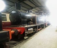 Bo'ness & Kinneil Railway 09-07-2019 24 0-6-0T National Coal Board West Ayr Area Andrew Barclay talley 2335 1953 horizontal pano