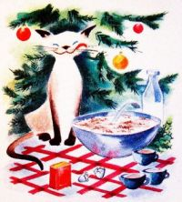 Vintage Christmas Kitty