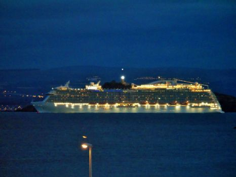 Cruise Ship Royal Princess sailing down the Firth of Forth bound for Le Havre France September 3rd 2015 #3