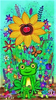 Spring Flowers and Frogs by Nick Gustafson