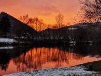 Winter Sonnenuntergang am Neckar