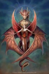 angel and dragon