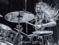 Liliac drummer on a Tuesday