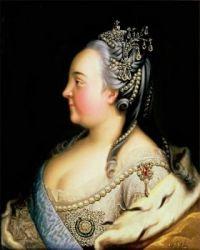 Elisabeth Petrovna par Heinrich Buchholz. Vers 1768.