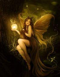 4  ~  Fairy spreading light in the dark.