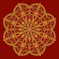 red and gold mandala