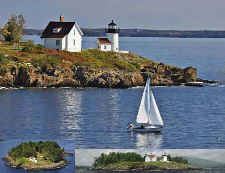 Maine Lighthouses: Curtis Island, Camden Harbor