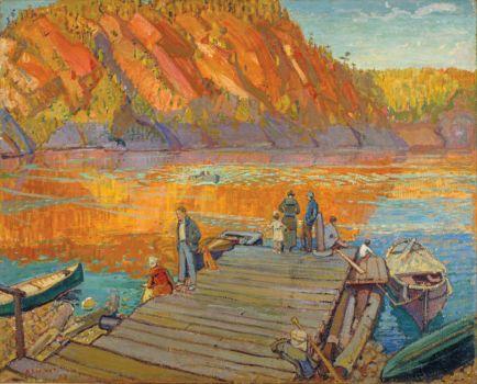Autumn, Bon Echo, by Arthur Lismer, 1923