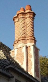 Chimney at Greystone Mansion in Beverly Hills
