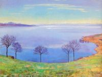 The Lake Geneva from Chexbres - Ženevské jezero od Chexbres - 1898