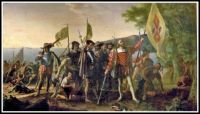 Landing of Columbus (1842–47) ~ John Vanderlyn
