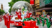 Christmas Pageant Has Come To Town - Snow Dome Float