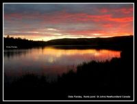Sunset on the lake St Johns Newfoundland