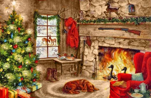 Cozy Christmas by the Fire
