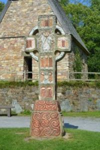 Early Christian Church and High Cross, Irish National Heritage Park, Ferrycarrig, Ireland