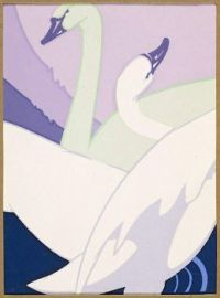 Untitled (Swans), Attributed to Leon V. Carroll, 1930s