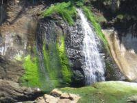 waterfall along Pacific coastline