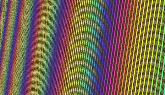 Rainbow Fractal Low Iteration - larger