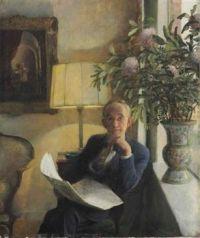 John Koch 1951 portrait of the artists father