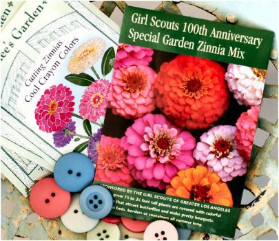 Girl Scouts 100th Anniversay Zinnia Mix