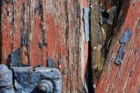 Cracked Wood and Peeling Paint