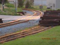 Sunset on the train tracks