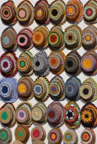 Embroidered hats in Southern Egypt (Aswan)...