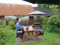 Lunch at Kerrera Tea House, Scotland