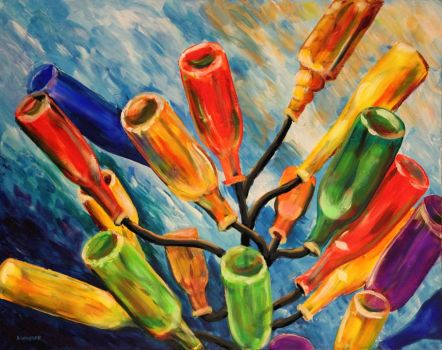Bottle Tree painting