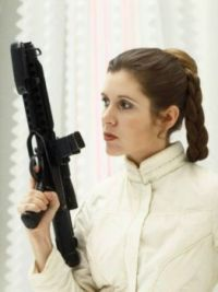 Young Carrie Fisher as Princess Leia in The Empire Strikes Back (4)