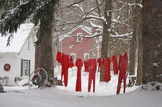 Deck the trees with rows of Papa's Long-johns!