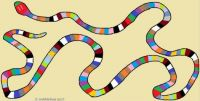 Wobblybear Creations 144b - Rainbow snake (Larger version)