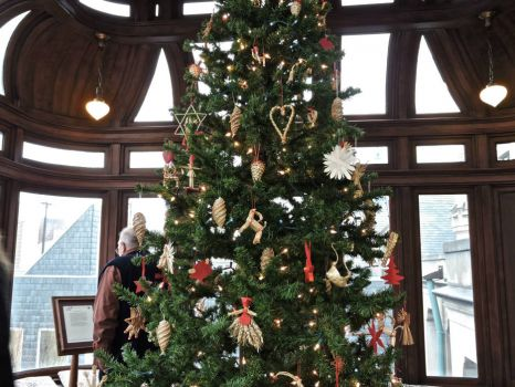 Christmas trees in the American Swedish Institute, Mpls, MN