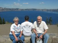 Bob and me in front of Crater Lake, Or
