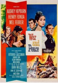 WAR and PEACE  -  1956 MOVIE POSTER      AUDREY HEPBURN, HENRY FONDA & MEL FERRER