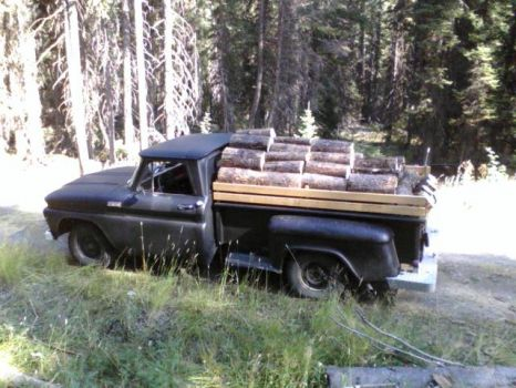 The good 65 chev working fine