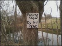 private sign