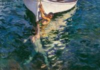 Joaquín Sorolla The White Boat, Jávea, 1905