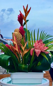Tropical table decoration