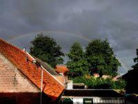 Regenboog, vanuit mijn slaapkamerraam