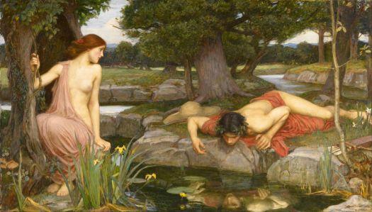 Pre-Raphaelite Art - Echo and Narcissus by John William  Waterhouse