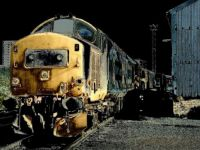 HDR of Class 37424 at Eastfield Depot - 15th Jun 1988