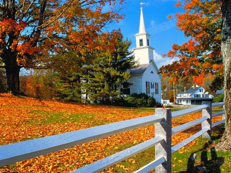 NEW ENGLAND CHURCH - FALL