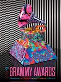 Vintage-ish poster 57th Annual Grammy Awards, Los Angeles 2015