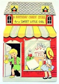 Themes Vintage illustrations/pictures - Birthday Candy Store