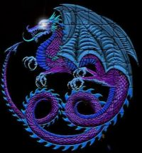 blue/purple dragon