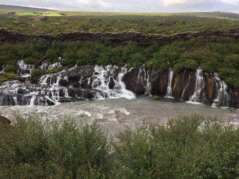 Hraunfossar waterfall in Iceland