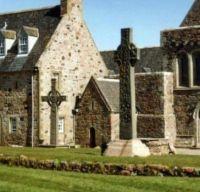 Crosses and St. Columba's Shrine, Isle of Iona, Scotland